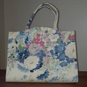 Handbags - Vintage Margaret Smith Floral Fabric Handbag